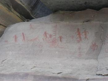 Ancient drawings at Whitmore Wash