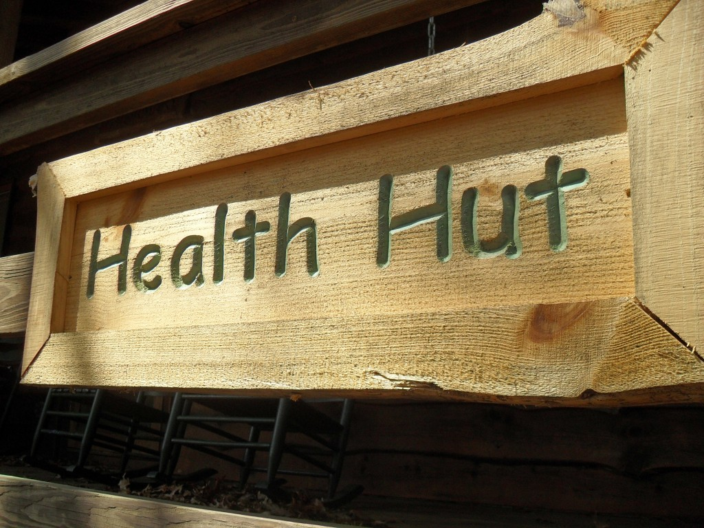 health hut sign
